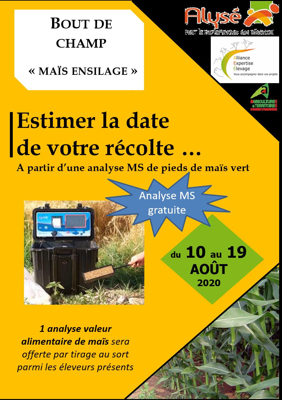 """Les rendez-vous """" MS maïs 2020"""""""