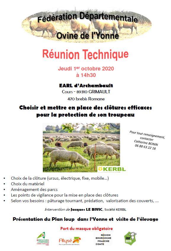 Journée technique ovine Yonne - FDO