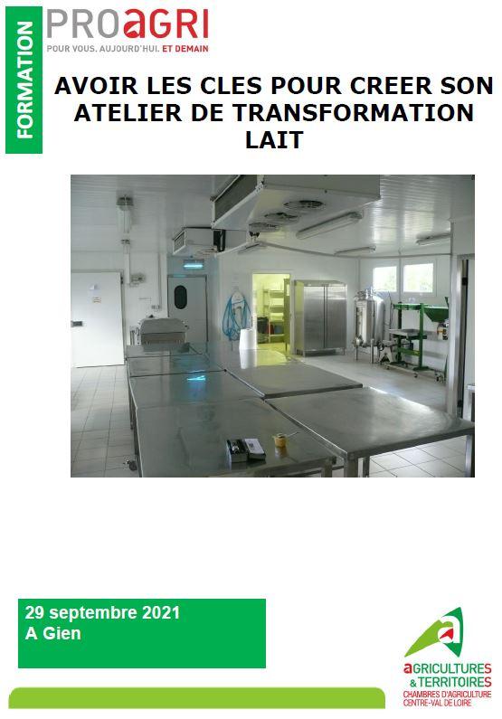 AVOIR LES CLES POUR CREER SON ATELIER DE TRANSFORMATION LAIT